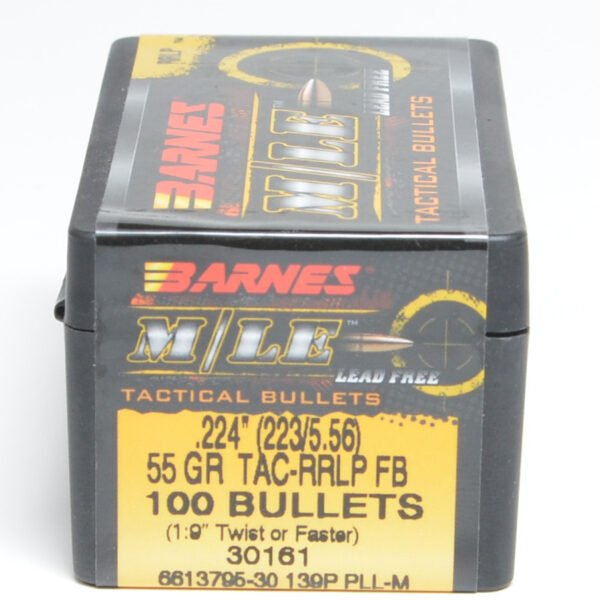 Barnes .224 / 22 55 Grain Tactical Reduced Ricochet