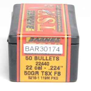Barnes .224 / 22 50 Grain Triple Shock X Bullet (50) Bar22440