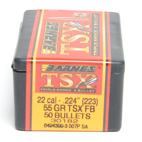 Barnes .224 / 22 55 Grain Triple-Shock X Flat Base Bullet (50)