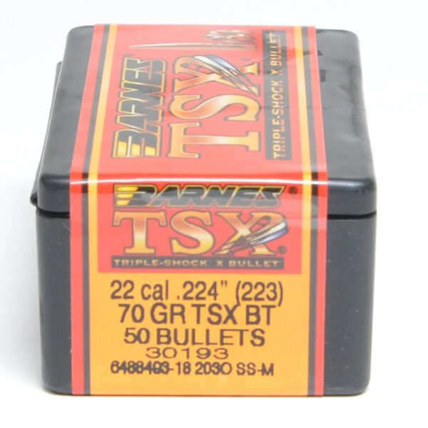 Barnes .224 / 22 70 Grain Triple-Shock X Boat Tail Bullet (50)