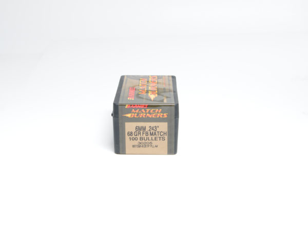 Barnes .243 / 6mm 68 Grain Flat Base Bullet Match (100)