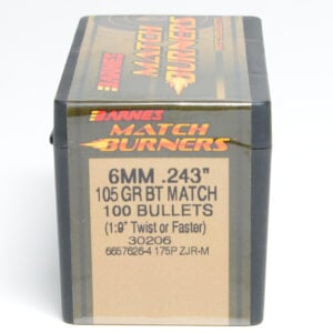Barnes .243 / 6mm 105 Grain Boat Tail Bullet Match (100)