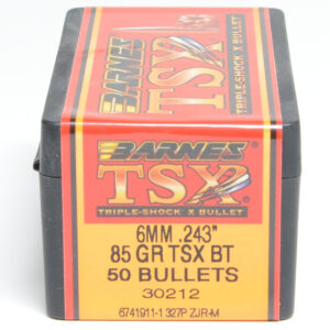 Barnes .243 / 6mm 85 Grain Triple-Shock X Boat Tail Bullet (50)
