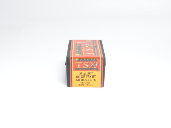 Barnes .257 / 257 100 Grain Triple-Shock X Boat Tail Bullet (50)