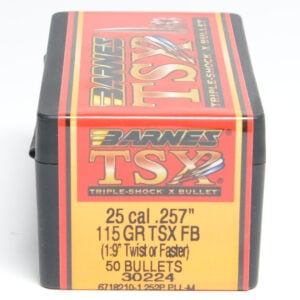 Barnes .257 / 257 115 Grain Triple-Shock X Flat Base Bullet (50)
