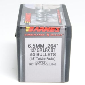 Barnes .264 / 6.5mm 127 Grain Long Range X Bullet Boat Tail Bullet (50)