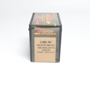 Barnes .264 / 6.5mm 140 Grain Match Burner Boat Tail Bullet (100)