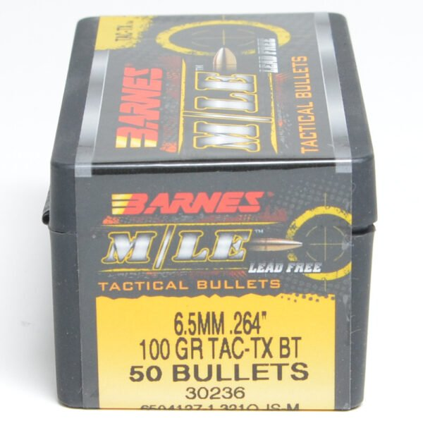 Barnes .264 / 6.5mm 100 Grain Tactical Tipped X Boat Tail Bullet (50)
