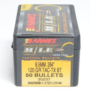 Barnes .264 / 6.5mm 120 Grain Tactical Tipped X-Boat Tail Bullet (50)