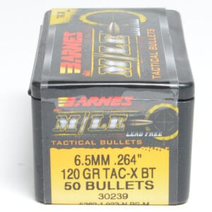 Barnes .264 / 6.5mm 120 Grain Tactical Triple-Shock X Boat Tail Bullet (50)
