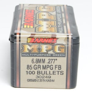 Barnes .277 / 6.8mm 85 Grain Multi-Purpose Green Flat Base Bullet (100)