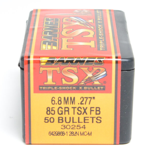 Barnes .277 / 6.8mm 85 Grain Triple-Shock X Flat Base Bullet (50)