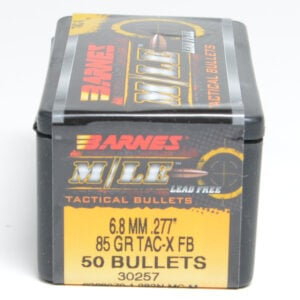 Barnes .277 / 6.8mm 85 Grain Tactical X Flat Base Bullet (50)