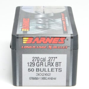 Barnes .277 / 6.8mm 129 Grain Long Range X Bullet Boat Tail Bullet (50)