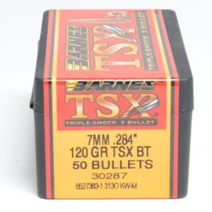 Barnes .284 / 7mm 120 Grain Triple-Shock X Boat Tail Bullet (50)