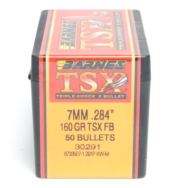 Barnes .284 / 7mm 160 Grain Triple-Shock X Flat Base Bullet (50)