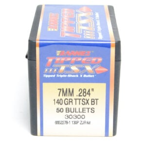 Barnes .284 / 7mm 140 Grain Tipped Triple-Shock X Boat Tail Bullet (50)