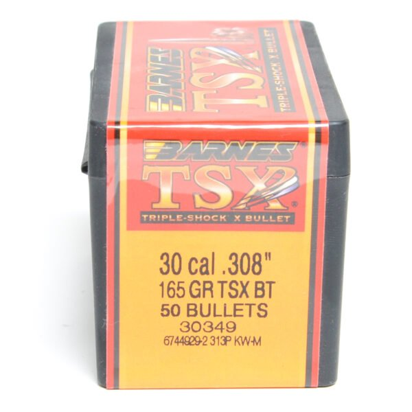 Barnes .308 / 30 165 Grain Triple-Shock X Boat Tail Bullet (50)