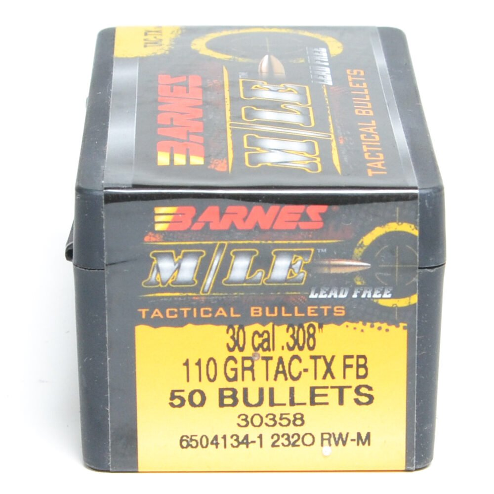 Barnes .308 / 30 110 Grain Tactical Tipped X Flat Base ...