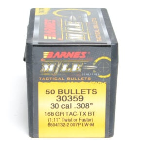 Barnes .308 / 30 168 Grain Tactical Tipped X Boat Tail Bullet (50)