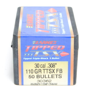 Barnes .308 / 30 110 Grain Tipped Triple-Shock X Flat Base Bullet (50)