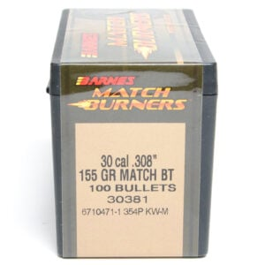 Barnes .308 / 30 155 Grain Match Burner Boat Tail Bullet (100)