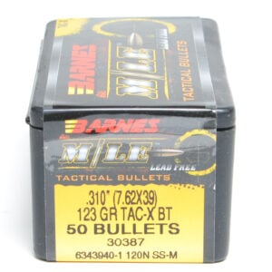 Barnes .310 / 7.62X39 123 Grain Tactical X Bullet (50)