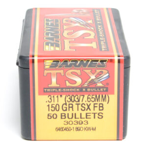 Barnes .311 / 303 150 Grain Triple-Shock X Flat Base Bullet (50)
