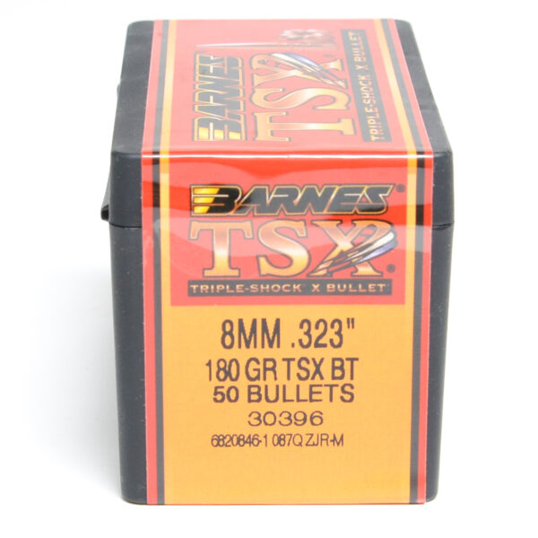 Barnes .323 / 8mm 180 Grain Triple-Shock X Boat Tail Bullet (50)