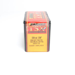 Barnes .338 / 338 250 Grain Triple-Shock X Flat Base Bullet (50)