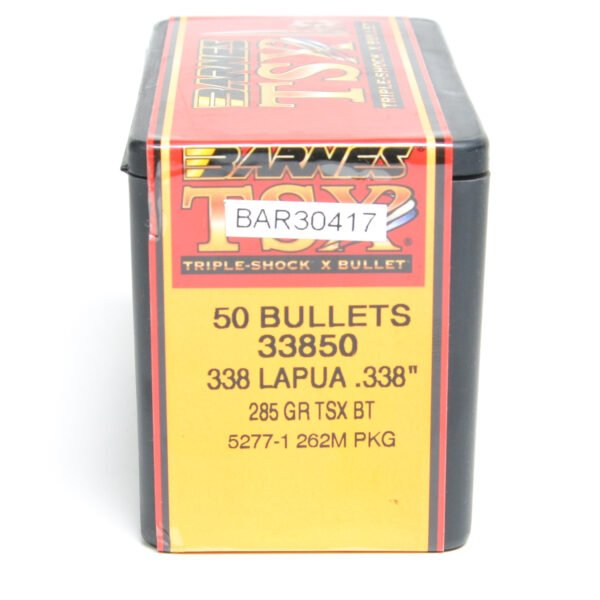 Barnes .338 / 338 285 Grain Triple-Shock X Boat Tail Bullet (50)