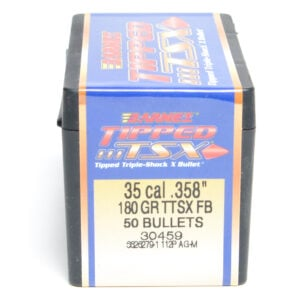 Barnes .358 / 35 180 Grain Tipped Triple-Shock X Flat Base Bullet (50)