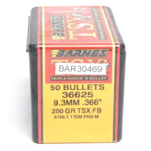 Barnes .366 / 9.3mm 250 Grain Triple-Shock X Flat Base Bullet (50)