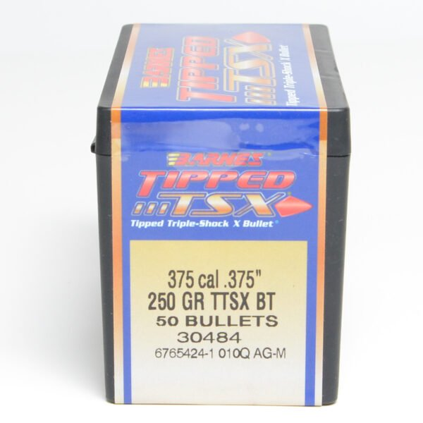 Barnes .375 / 36 250 Grain Tipped Triple-Shock X-Boat Tail Bullet (50)