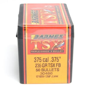 Barnes .375 / 36 235 Grain Triple-Shock X Flat Base Bullet (50)
