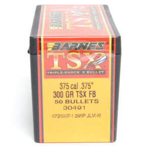 Barnes .375 / 36 300 Grain Triple-Shock X Flat Base Bullet (50)