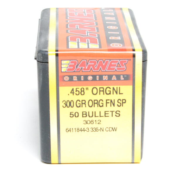 "Barnes .458 / 45-70 300 Grain ""Original"" Flat Nose Soft Point (50)"