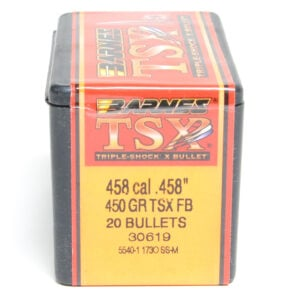 Barnes .458 / 458 Cal 450 Grain Triple-Shock X Flat Nose (20)