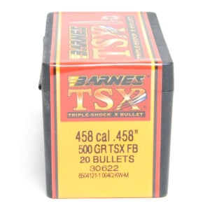 Barnes .458 / 458 Cal 500 Grain Triple-Shock X Flat Nose (20)