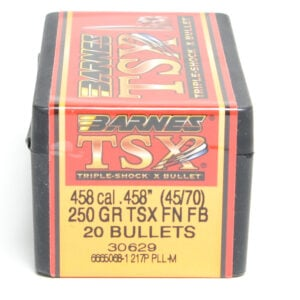 Barnes .458 / 45-70 250 Grain Triple-Shock X Flat Nose (20)