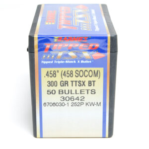 Barnes .458 / 45-70 Socom 300 Grain Tipped Triple-Shock X Boat Tail Bullet (50)
