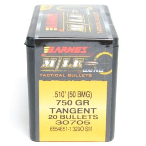 Barnes .510 / 50Bmg 750 Grain Tactical Long Range X Boat Tail Bullet (20)