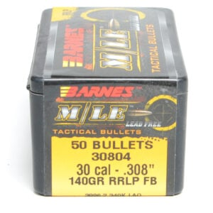 Barnes .308 / 30 140 Grain Tactical Reduced Ricochet