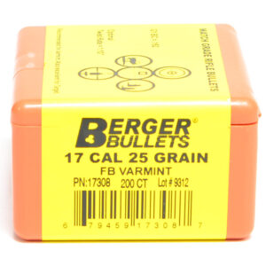 Berger .172 / 17 25 Grain Match Varmint Boat Tail (200)