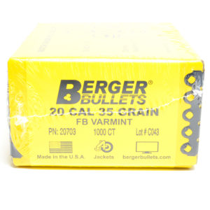 Berger .204 / 22 35 Grain Match Varmint Boat Tail (1000)
