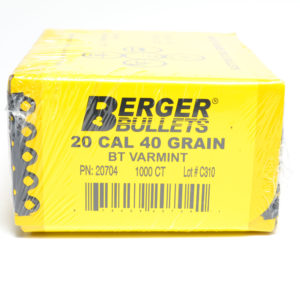 Berger .204 / 22 40 Grain Match Varmint Boat Tail (1000)