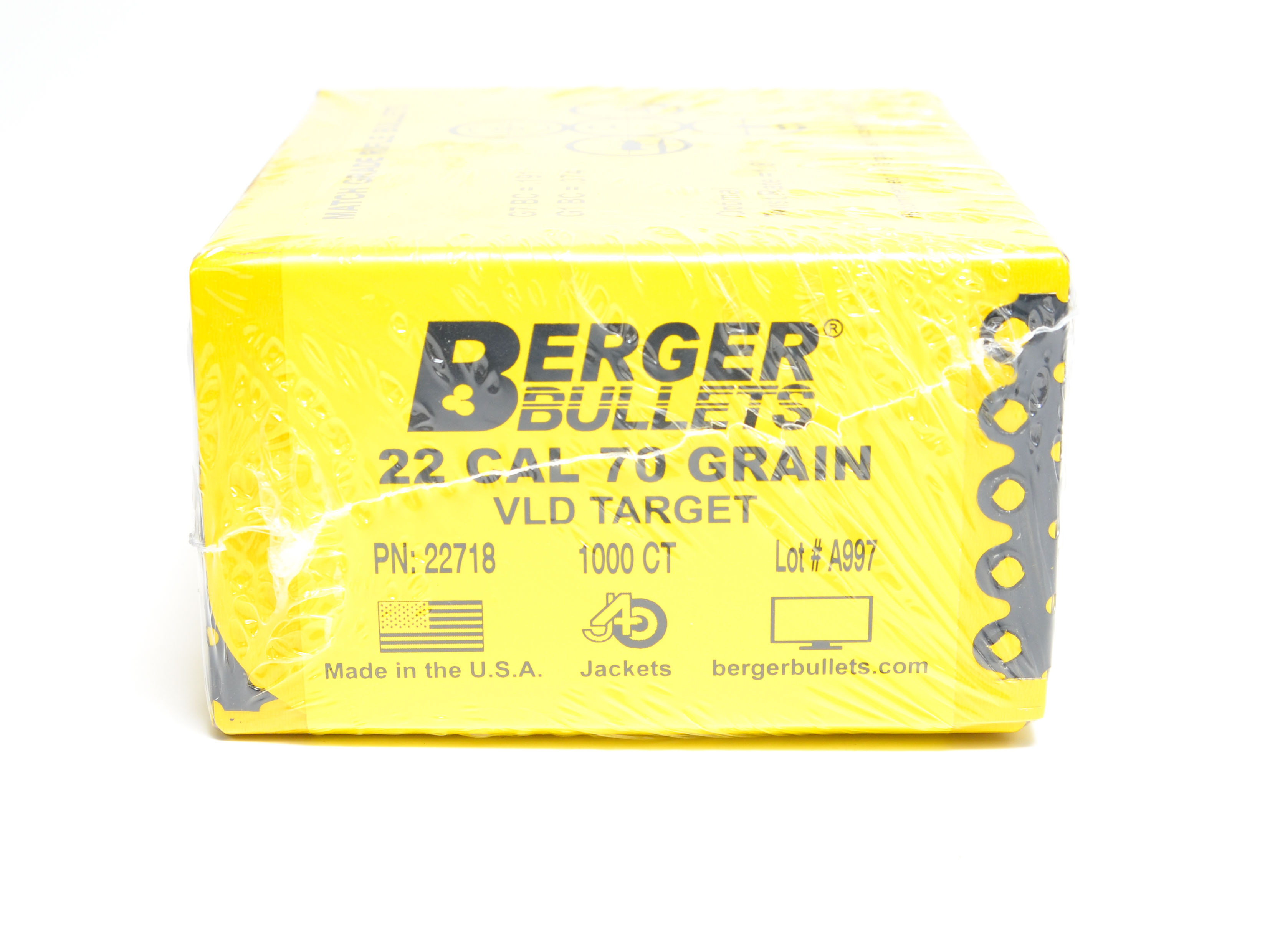 Berger 224 22 70 Grain Target Very Low Drag 1000