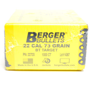 Berger .224 / 22 73 Grain Match Target Boat Tail (1000)
