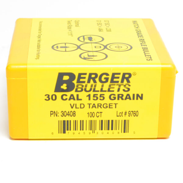 Berger .308 / 30 155 Grain Target Very Low Drag (100)
