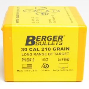 Berger .308 / 30 210 Grain Target Boat Tail Long Range (100)